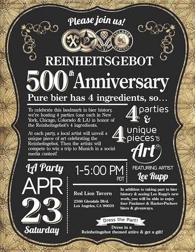 Paulaner USA Celebrates Reinheitsgebot, Germany's Beer Purity law
